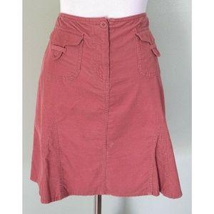 ANN TAYLOR LOFT Pink Corduroy Pocket A-Line Skirt
